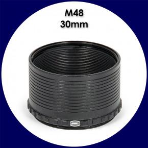 """[M48] Baader M48 Zwischenring 30mm / 2"""" Steckhülse mit Safety Kerfs"""