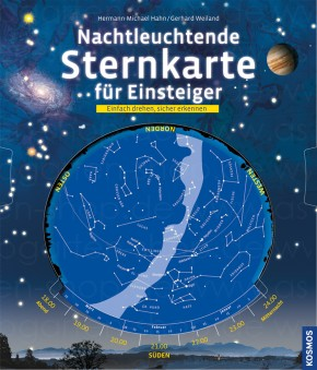 Nachtleuchtende Sternkarte für Einsteiger