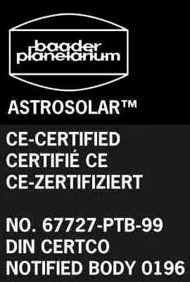 Baader AstroSolar™ Sonnenfilterfolie VISUELL 10x10cm